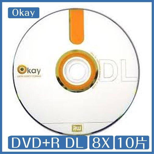 OKAY 8X DVD+R DL 8.5GB 10片布丁桶裝
