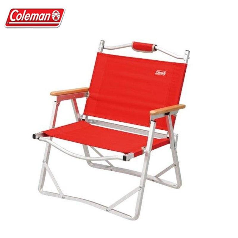 【露營趣】新店桃園 Coleman CM-7670 輕薄摺疊椅/紅 折疊椅 休閒椅 導演椅 野餐椅 折合椅 露營椅