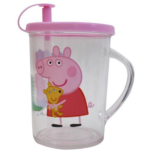 佩佩豬 吸管杯280cc-粉色★愛兒麗婦幼用品★