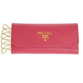 プラダ PRADA 6連キーケース サフィアーノ ペオニア1M0223 新品  xmas