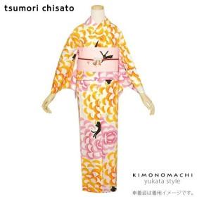 TSUMORI CHISATO 浴衣単品 ダリア 猫 注染 レディース