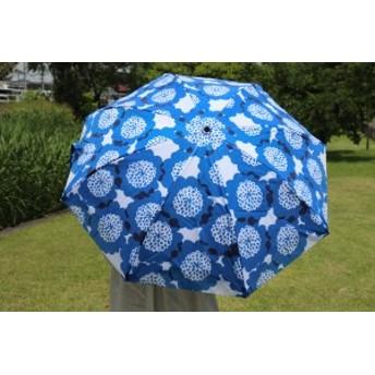 晴雨兼用 二重張り 折りたたみ傘 クッキア UVカット 雨傘 日傘