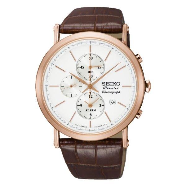 Seiko 精工錶 7T62-0LK0J(SNAF82J1) 正裝系列纖薄羅馬計時腕錶/白面41mm
