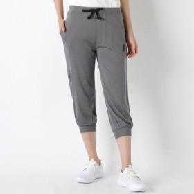 ランニング トレーニングウェア ディズニー ミッキーカチオンメッシュ裾リブ7分丈パンツ 「チャコール」