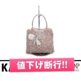 アンテプリマ ワイヤーバッグ リボンパールラインストーン ビニール ピンク 【SAランク】【中古】ハンドバッグ