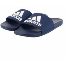 アディダス ADILETTECFLOGO (B44870) メンズ シャワーサンダル : ダークブルー×ホワイト adidas