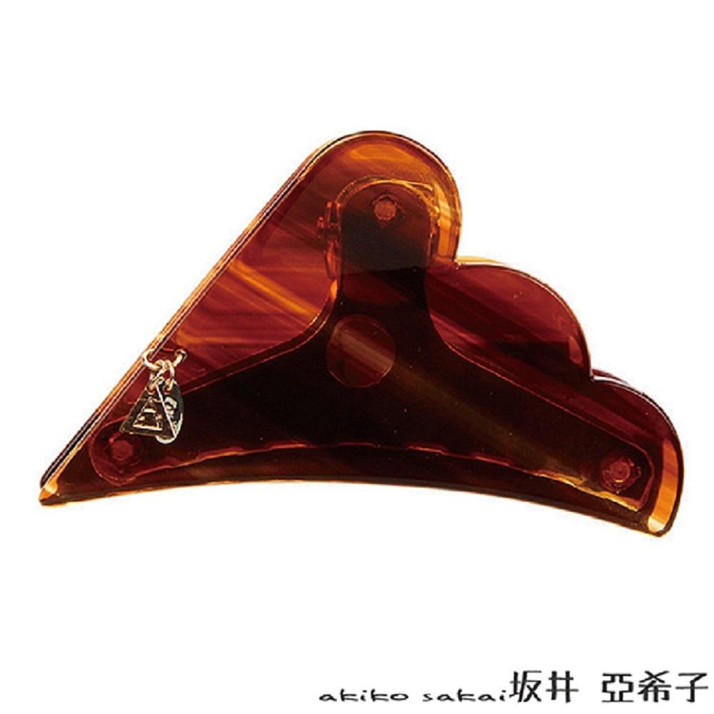 『坂井.亞希子』 大理石紋雲朵金屬吊牌髮夾