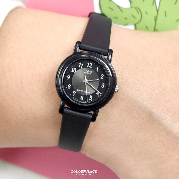 CASIO手錶 小圓灰面數字矽膠錶【NECA6】