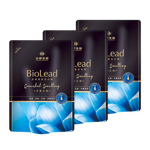 台塑生醫 BioLead經典香氛洗衣精補充包 天使之吻1.8kg(3包入)