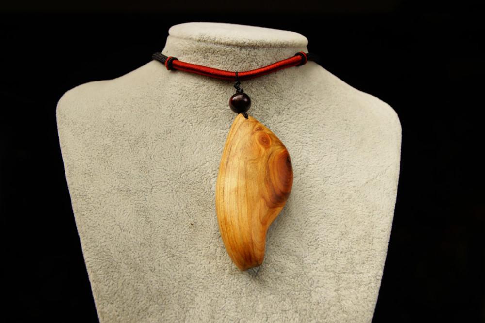 c158台灣紅檜造形項鍊.原木吊墜.檜木原木項鍊