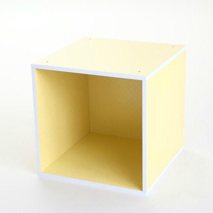 收納 收納櫃 MyTolek 童樂可積木櫃-單框框(點點黃) 兒童收納書櫃 可堆疊