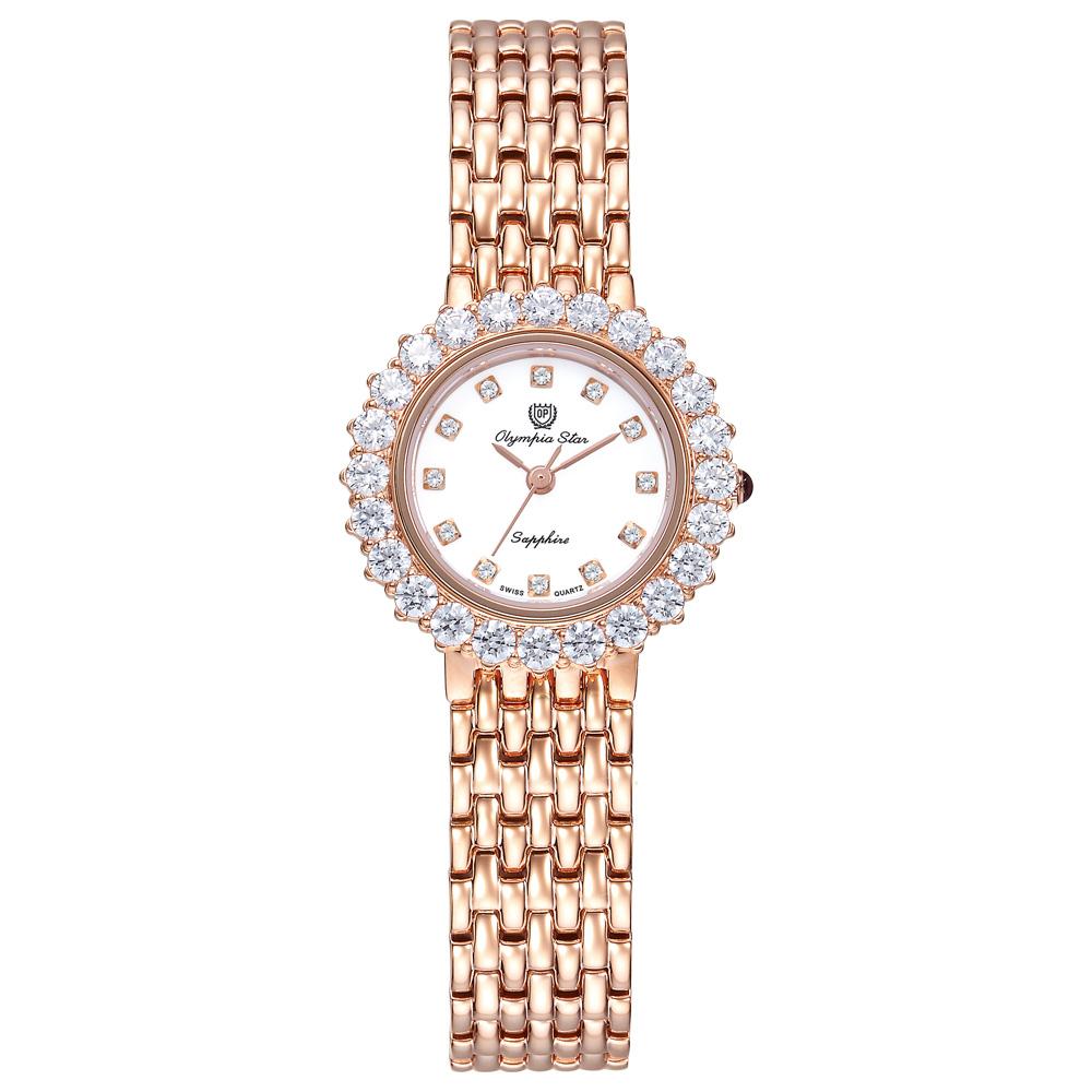 Olympia Star 奧林比亞之星 冰心雪蓮珠寶錶(玫瑰金)25.9mm