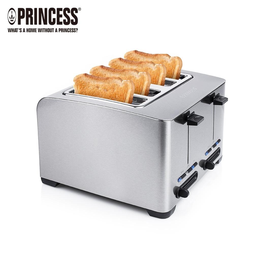 《PRINCESS》荷蘭公主不鏽鋼四片烤吐司機(142397)贈計時器