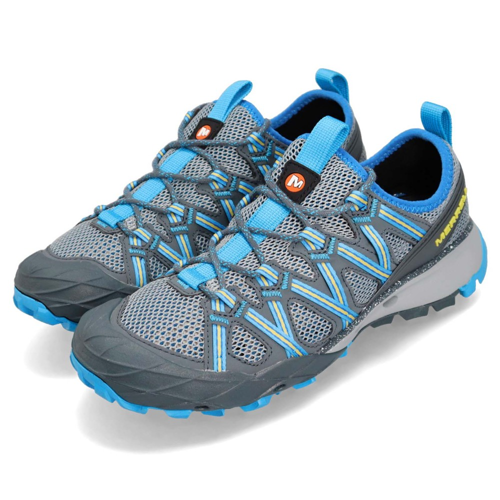 MERRELL 兩棲鞋 Choprock 低筒 戶外運動 女鞋 登山 水陸兩用 快速排水 耐磨黃金大底 藍 灰 [ML490
