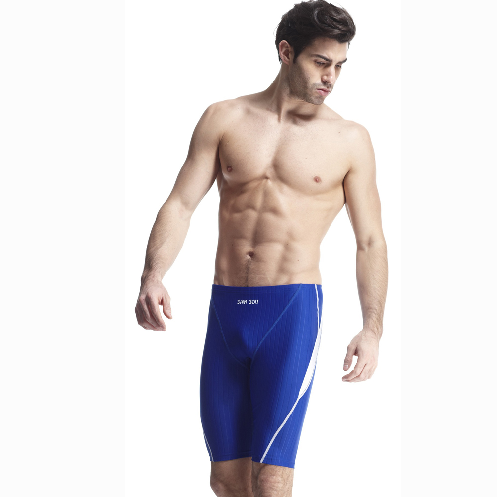 【SAIN SOU】競賽/泳隊/專業用及膝泳褲加贈矽膠泳帽A57407-05