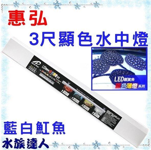 【水族達人】【LED】惠弘 《LED 顯色水中燈系列 薄型 3尺 藍白魟魚 A-HH-LS090》90cm LED