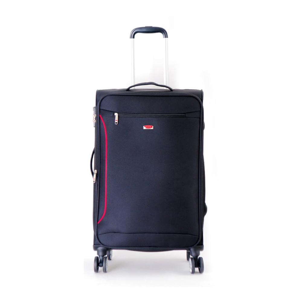 DF travel - 說走就走!休閒輕旅布面20吋行李箱-黑色