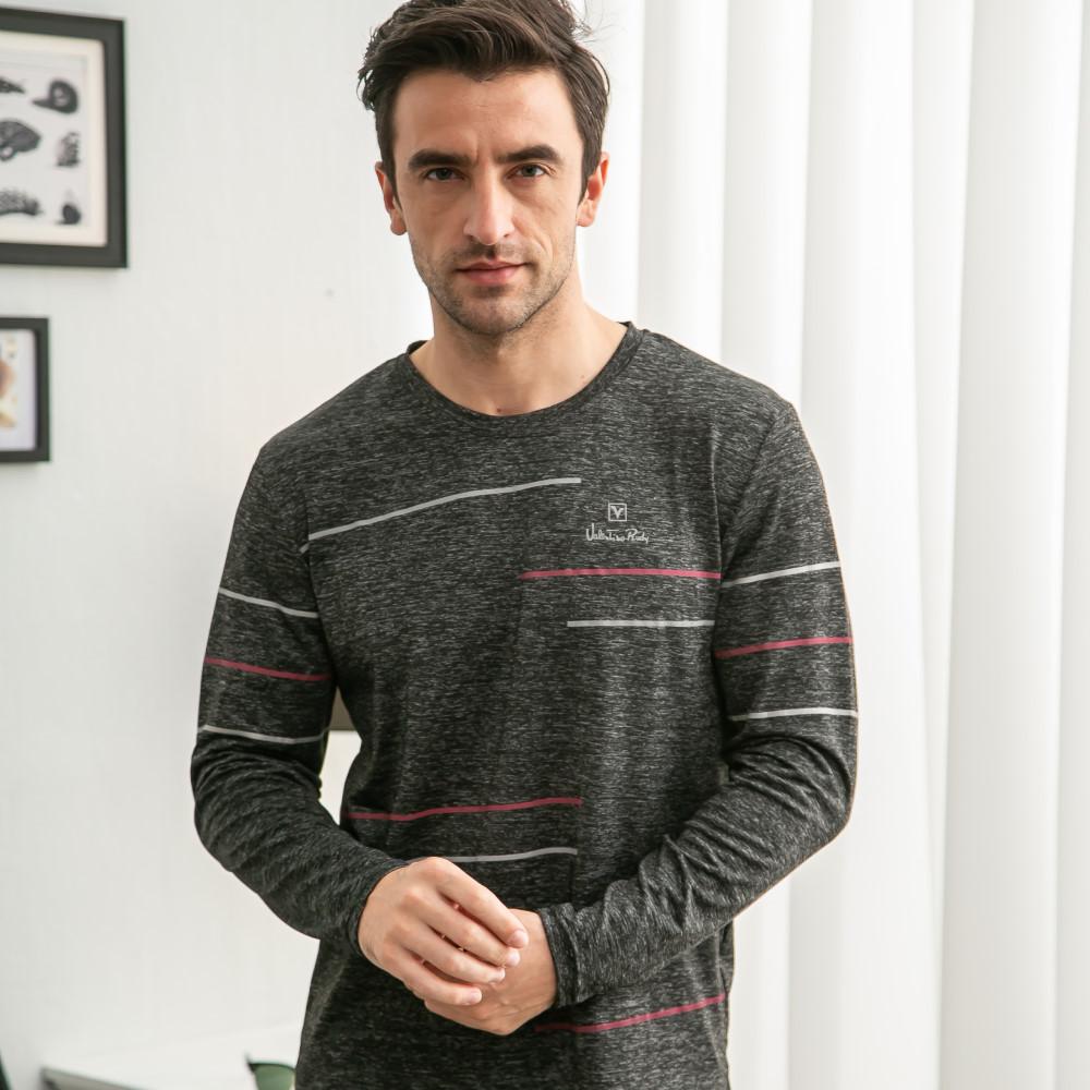 Valentino Rudy范倫鐵諾.路迪 防曬透氣長袖機能T恤-灰黑