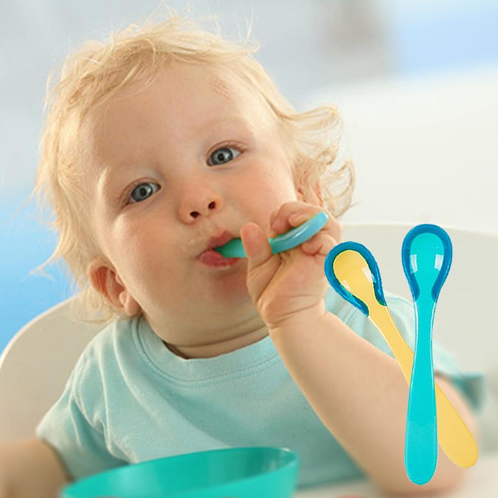 兩隻裝嬰兒感溫變色勺湯匙防燙勺 (2組裝)-du6134