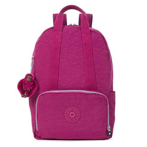 KIPLING 筆電雙肩背包-紫葡萄