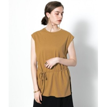 SENSE OF PLACE(センスオブプレイス) トップス Tシャツ・カットソー リネンウエストマークトップス(ノースリーブ)