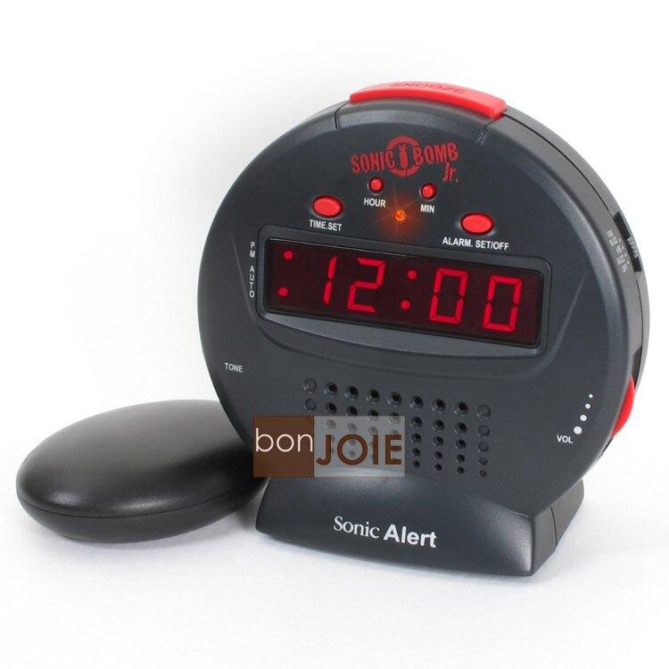 ::bonJOIE:: 美國進口 Sonic Alert SBJ525SS 震動鬧鐘 (含振動器)(全新盒裝) Boom Bomb Jr. 音波炸彈 鬧鈴 靜音 提醒器