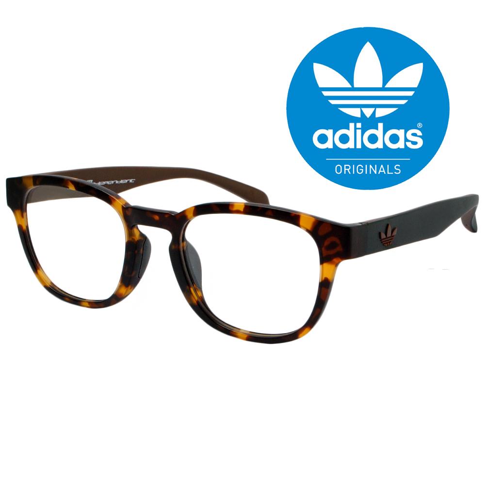 【adidas 愛迪達】三葉草LOGO愛迪達光學眼鏡-琥珀大框(0010-148-009)