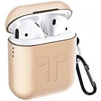 Apple AirPod用 金属 保護ケース 防塵 耐衝撃 ケース エアーポッズ ケース 1/2世代適用 カバー (ゴールド) MYR
