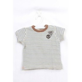 f453e15831e944 【中古】ベベ bebe 子供服 キッズ any-be Tシャツ カットソー ボーダー 半袖