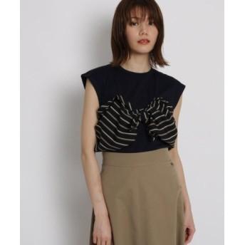 (AG by aquagirl/AG バイ アクアガール)リボンドッキングシャツ/レディース ネイビー(593)