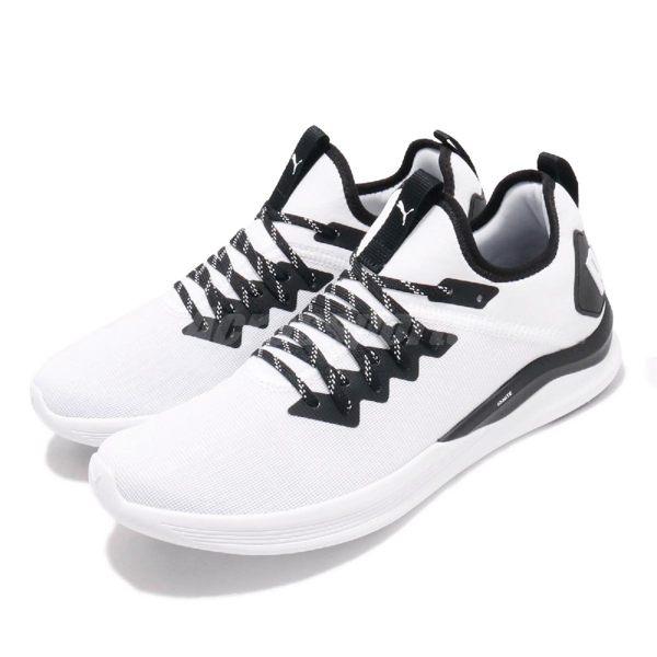 Puma 訓練鞋 Ignite Flash Mesh 白 黑 多功能 慢跑鞋 運動鞋 男鞋【PUMP306】 19273302
