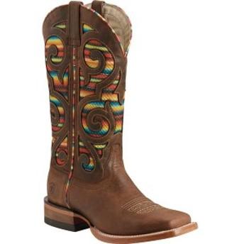 アリアト レディース ブーツ&レインブーツ シューズ Baja VentTEK Cowgirl Boot Weathered Russet Full Grain Leather