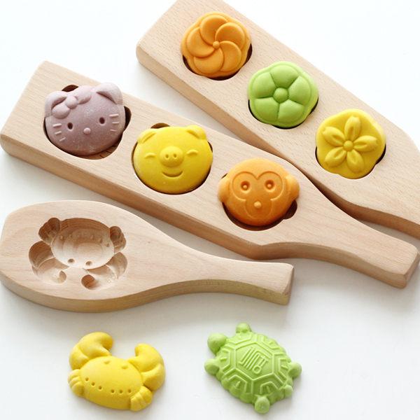 烘焙工具家用木質冰皮月餅紫薯綠豆山藥糕點南瓜餅干蒸饅頭模具