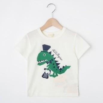 ハッシュアッシュ(キッズ)(HusHusH Kids)/【80-130cm】吸水速乾恐竜Tシャツ
