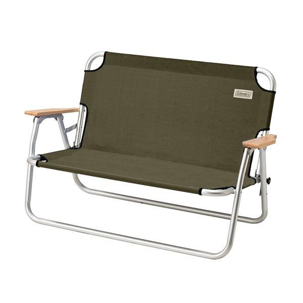 【速捷戶外】美國Coleman CM-33807 輕鬆折疊長椅(橄欖綠) 休閒椅 摺疊椅 情人椅 雙人椅