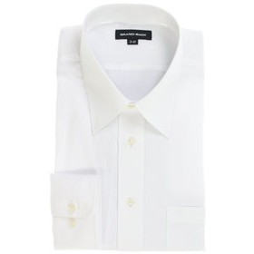 【GRAND-BACK:トップス】【大きいサイズ】グランバック/GRAND-BACK 形態安定レギュラーカラー長袖ビジネスドレスシャツ