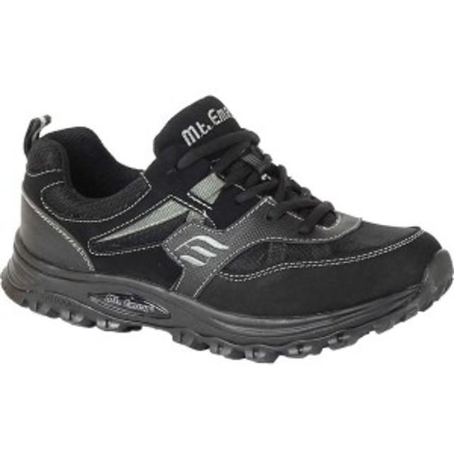 マウントエメイ レディース スニーカー シューズ 3310 Walking Sneaker Black Leather/Mesh