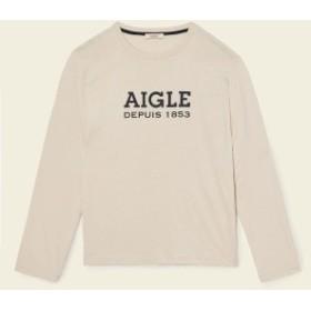 【セール】 エーグル トレッキング アウトドア 長袖Tシャツ DFT AIGLE LOGO L/S TEE ZTH022J メンズ ECRU