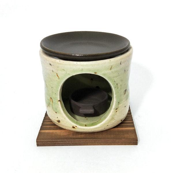 日本陶瓷【萬古燒】古都 燒茶香爐 手作薰香爐