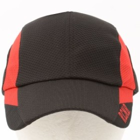 【セール】 ナンバー ランニング キャップ メッシュキャップ NB-Y16-302-083 メンズ ブラック/レッド