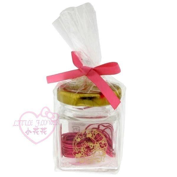 ♥小花花日本精品♥ 美少女戰士迴紋針15入附盒-心型造型玻璃罐迴紋針盒組 文具桌上收納-60148506
