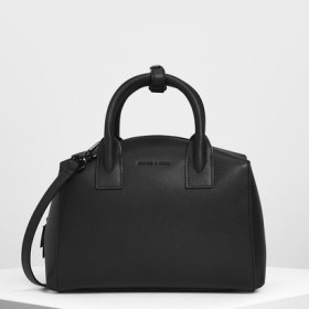 クラシックストラクチャード トップハンドルバッグ / Classic Structured Top Handle Bag (Black)