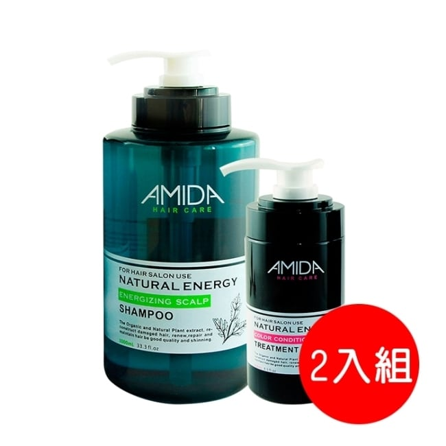 AMIDA平衡去脂洗髮精1000ML+角質蛋白護髮素250ML組合(二入組)