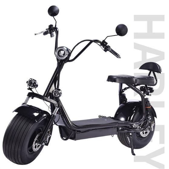 機車 哈雷電動車雙人大輪鉛酸電瓶車摩托車小滑板車鋰電踏板車男女通用 NMS 樂活生活館