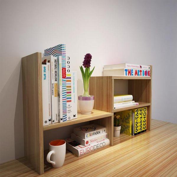 創意桌面書架置物架兒童宿舍書柜書架簡易桌上學生用辦公室收納架