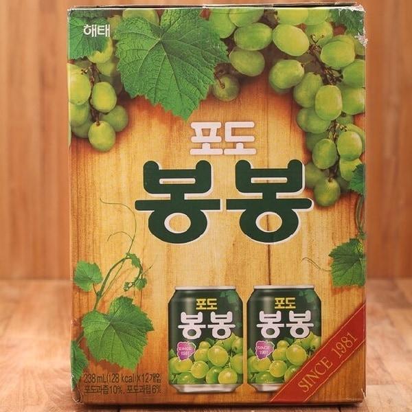【韓國HAITAI】葡萄果汁(238ml*12入/盒)