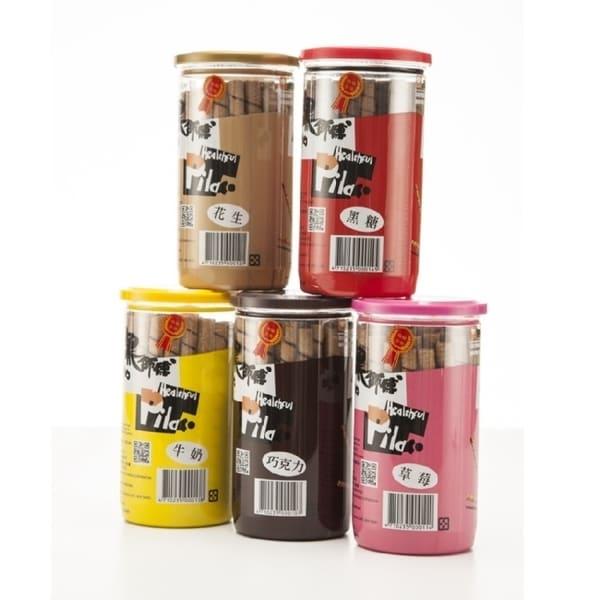 【黑師傅】捲心酥 綜合口味組巧克力/草莓/花生/黑糖/牛奶各1罐