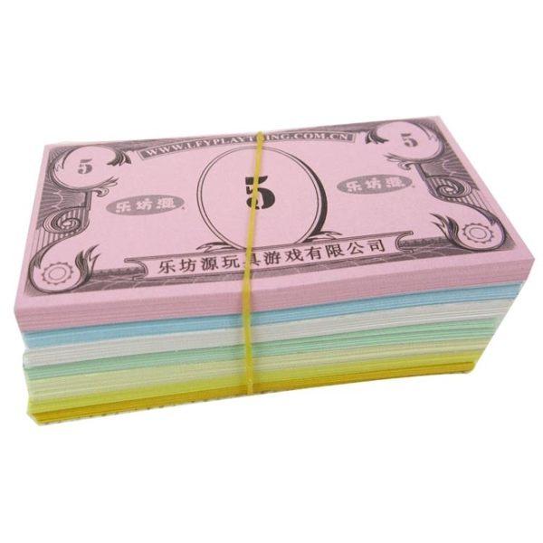 幼兒園兒童玩具游戲紙幣 理財培訓游戲錢幣道具 大富翁游戲棋配件