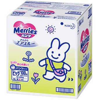 【パンツタイプ】メリーズパンツ ビッグサイズ 100枚(カートン 箱入り)