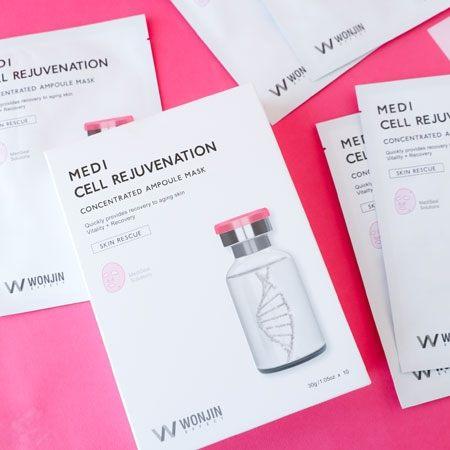韓國 WONJIN 原辰 植物細胞面膜 (10片入/盒) 30gx10 安瓶 精華 保濕面膜 面膜 原辰面膜